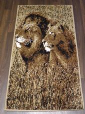 Modern Approx 5x2ft6 80cmx150cm Woven Top Quality Lions Beiges Rugs/Mats